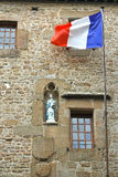 In the yard abbey of Mont Saint Michel. Normandy, France royalty free stock photos