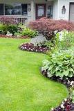 Yard aménagé en parc Photos stock