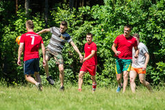 Yard Amateur football in the Kaluga region in Russia. Football game is very popular among young people and students. For this reason, in Russia often are royalty free stock photos