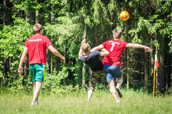 Yard Amateur football in the Kaluga region in Russia. Football game is very popular among young people and students. For this reason, in Russia often are stock photography