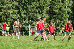Yard Amateur football in the Kaluga region in Russia. Football game is very popular among young people and students. For this reason, in Russia often are royalty free stock photography