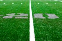 20 Yard - Arena des amerikanischen Fußballs Stockfotografie