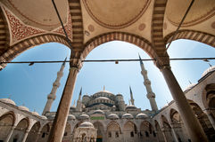 In the yard of the Blue Mosque Royalty Free Stock Photos
