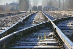 Yard canadien de rail photographie stock