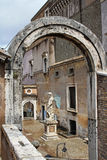 Yard at Castel Sant'Angelo Royalty Free Stock Images