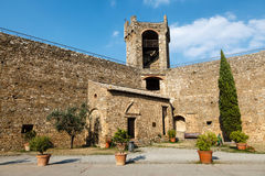 Yard in the Castle of Montalcino Royalty Free Stock Photo