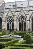 Yard of catholic abbay, Brugge, Belgium Stock Image