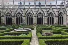 Yard of catholic abbay, Brugge, Belgium Royalty Free Stock Photo