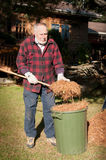 Yard cleaning royalty free stock images