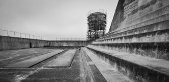 Yard d'exercice d'Alcatraz images libres de droits