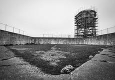Yard d'exercice d'Alcatraz photo libre de droits