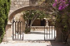 Yard dans le monastère de notre Madame Photo libre de droits