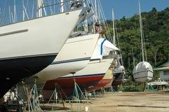 Yard de bateau Images libres de droits