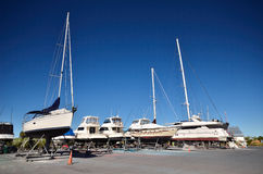 Yard de bateau photographie stock