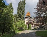 Yard de château de Pelesh Image stock