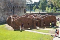 Yard de château des ducs de la Bretagne à Nantes Photo stock