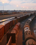 Yard de chemin de fer Image stock