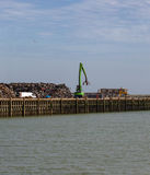 Yard de chute de voiture au bord de mer à New Haven, le Sussex, Angleterre, WI photo stock