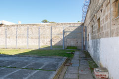 Yard de prison de Fremantle : Isolement à déchenchements périodiques Photo libre de droits