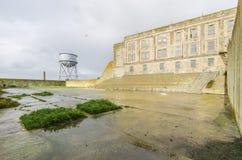 Yard de récréation d'Alcatraz, San Francisco, la Californie photo stock