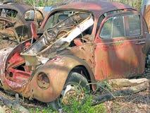 Yard de récupération de parties du corps de voiture Image stock