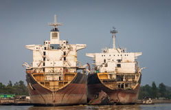 Yard de Shipbreaking Images stock