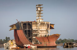 Yard de Shipbreaking Photographie stock libre de droits