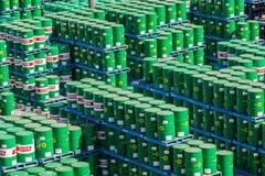 Yard de stockage de bidons à pétrole Photo libre de droits