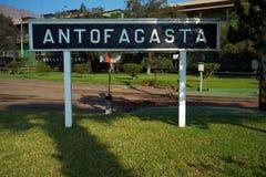 Yard de train d'Antofagasta Photos stock