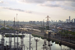 Yard de train du New Jersey photos libres de droits