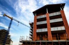 Yard de travaux de construction de bâtiments Photos stock