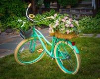 Yard Decor Bike Flowers Royalty Free Stock Photography