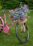 Yard Decor Bike Flowers Stock Image