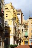 Yard in der alten Stadt Barcelona Stockbild