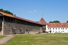 Yard der Festung Narva Estland stockfotografie