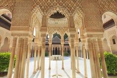 Yard der Löwen im Alhambra in Granada, Spanien Lizenzfreies Stockbild