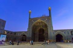 Yard der Schah-Moschee oder des Imams Mosque bei Sonnenuntergang in Isfahan iran Stockfoto