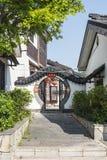 Yard door in Zhuxian Art blocks view stock photo