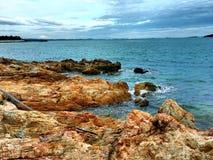 Yard en pierre, Nuture, océan, Images libres de droits