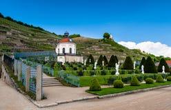 Yard et serre à raisin de château de Wackerbarth Photographie stock libre de droits