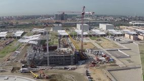 Yard Expo 2015 aerial footage Royalty Free Stock Image