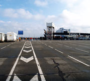 Yard at the ferry - Calais, France Stock Image