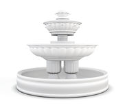 Yard fountain isolated on white background. 3d rendering Stock Photography