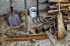 Yard and Garden Tools Royalty Free Stock Photography