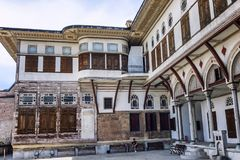 The yard of the harem in Topkapi. Horizontal stock photo