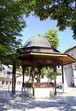 Yard historique de mosquée de Gazi Husrev Photos libres de droits