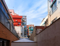 Yard of house  in Badalona Royalty Free Stock Photo