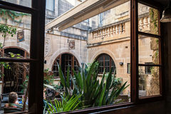 Yard intérieur à Malte Photographie stock libre de droits