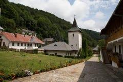 Yard intérieur d'église de monastère de Rameti Photo stock