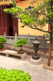 Yard in Jade Buddha Temple, Shanghai Stock Photography